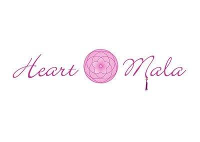 Logo Design Heart Mala